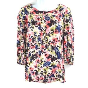 Anthropologie Maeve Pansyfield floral Blouse Top
